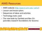 aims resources