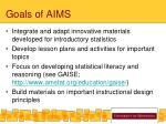 goals of aims