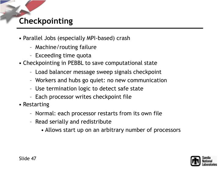 Checkpointing