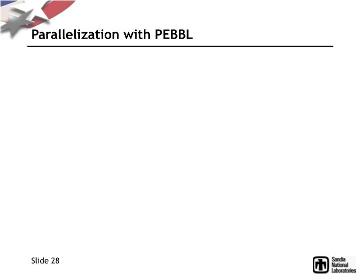 Parallelization with PEBBL