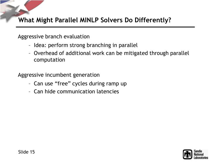 What Might Parallel MINLP Solvers Do Differently?