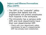 injury and illness prevention plan iipp