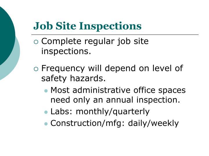 Job Site Inspections