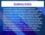 academy online