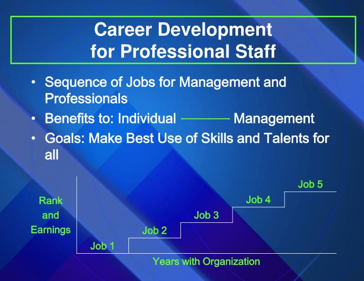 Career development for professional staff