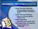 determine employee potential