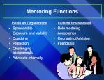 mentoring functions