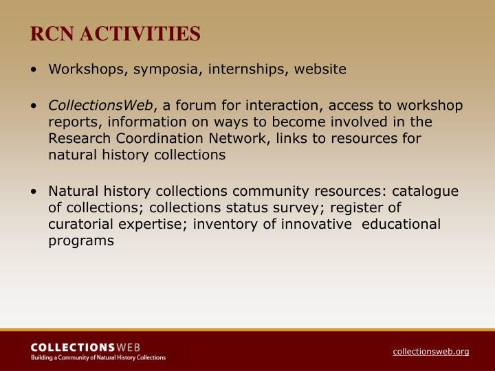 RCN ACTIVITIES