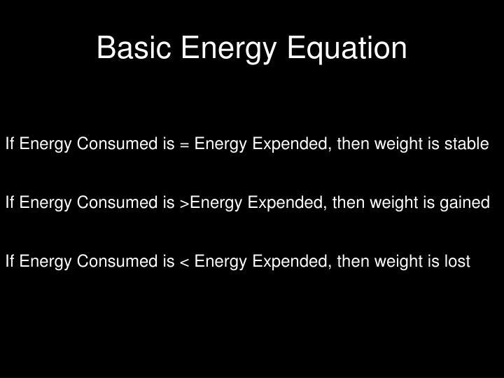 Basic Energy Equation