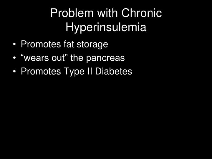Problem with Chronic Hyperinsulemia
