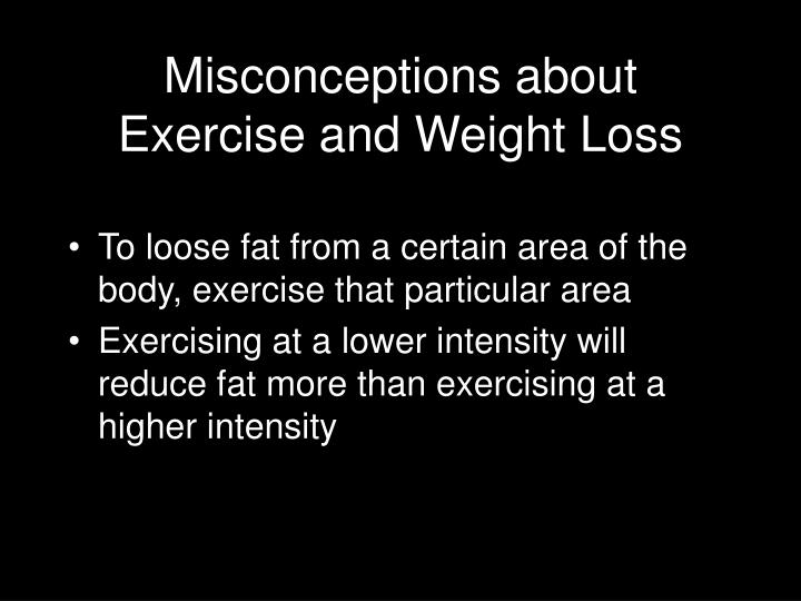 Misconceptions about Exercise and Weight Loss