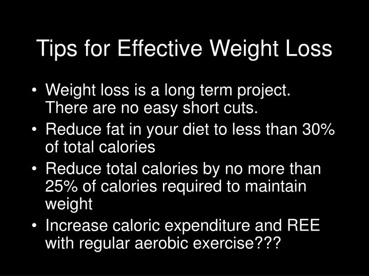Tips for Effective Weight Loss