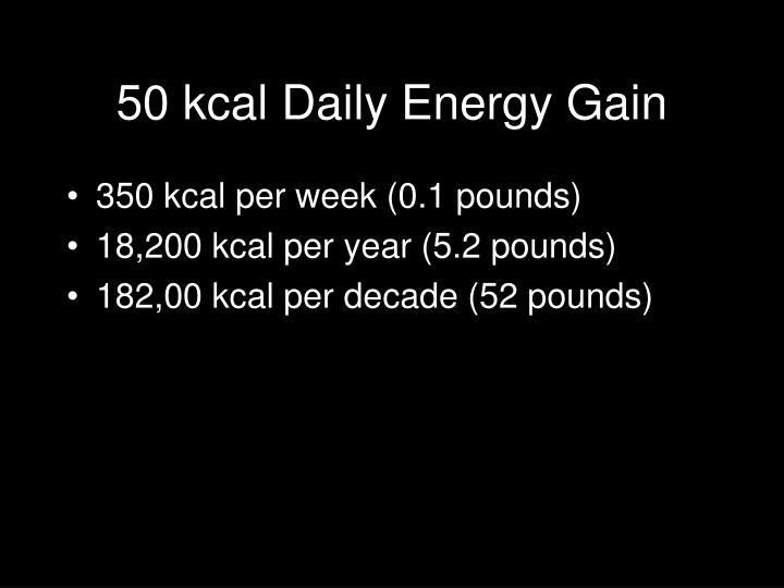 50 kcal Daily Energy Gain