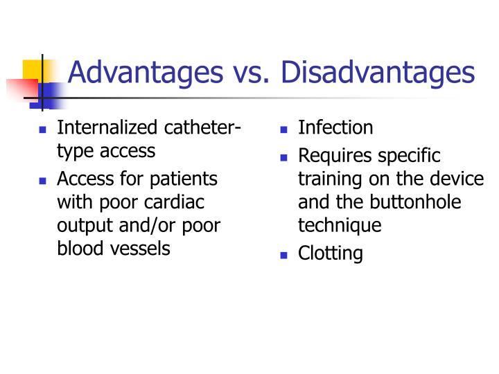 Internalized catheter-type access