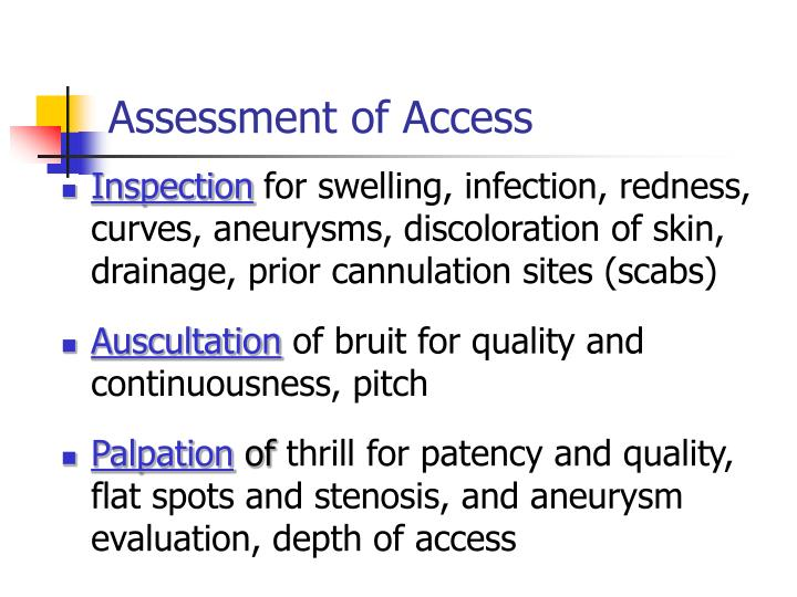 Assessment of Access