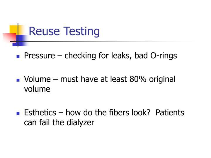 Reuse Testing