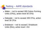 testing aami standards