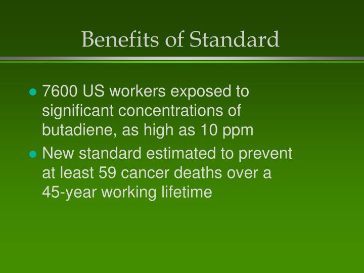 Benefits of Standard