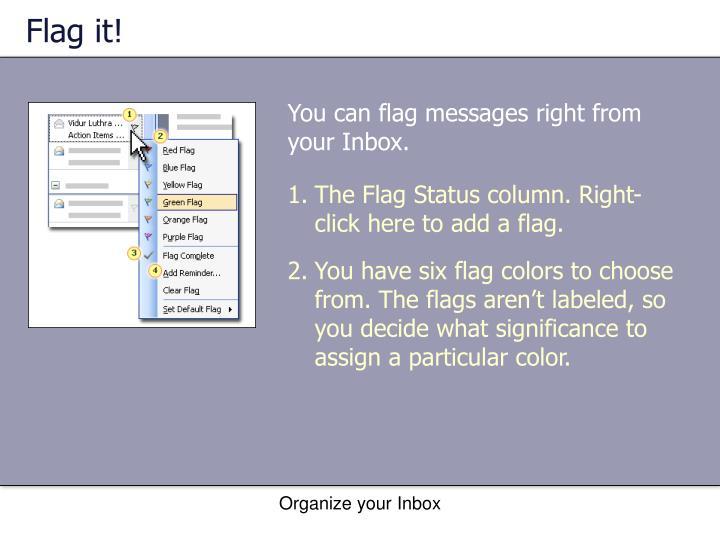 Flag it!