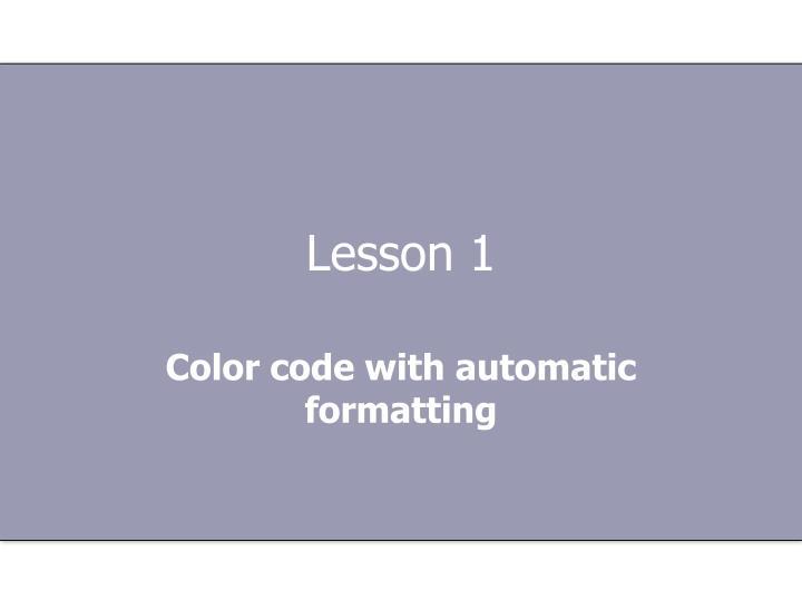Lesson 1