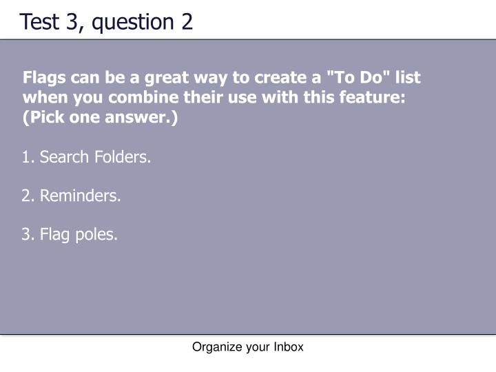 Test 3, question 2