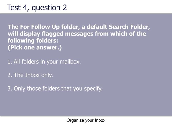 Test 4, question 2