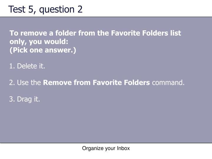 Test 5, question 2