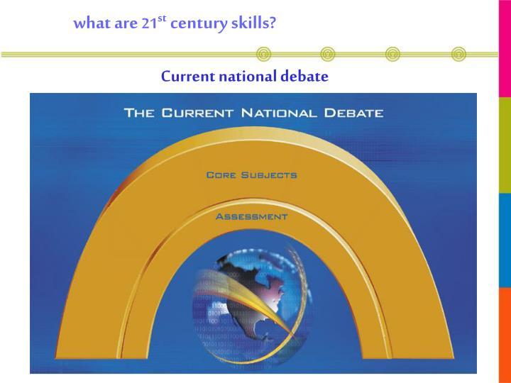 Current national debate