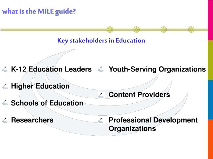 Key stakeholders in Education
