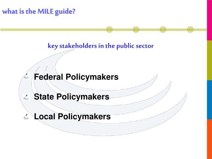 key stakeholders in the public sector