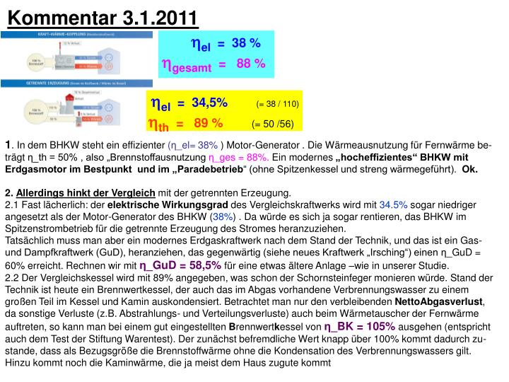 Kommentar 3.1.2011