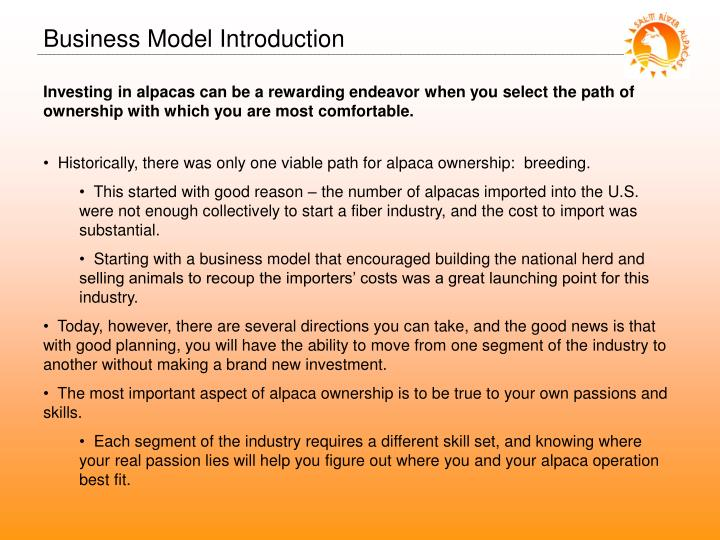 Business Model Introduction