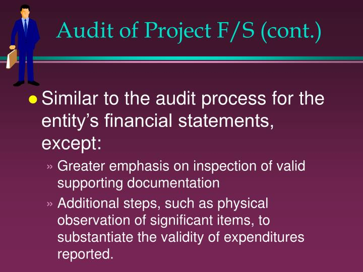 Audit of Project F/S (cont.)