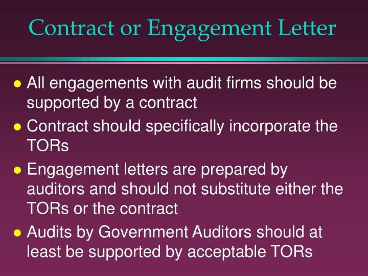 Contract or Engagement Letter