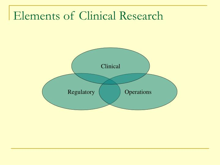 Elements of Clinical Research