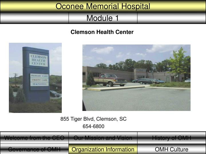 Clemson Health Center