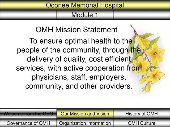 OMH Mission Statement