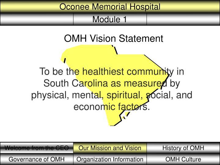 OMH Vision Statement