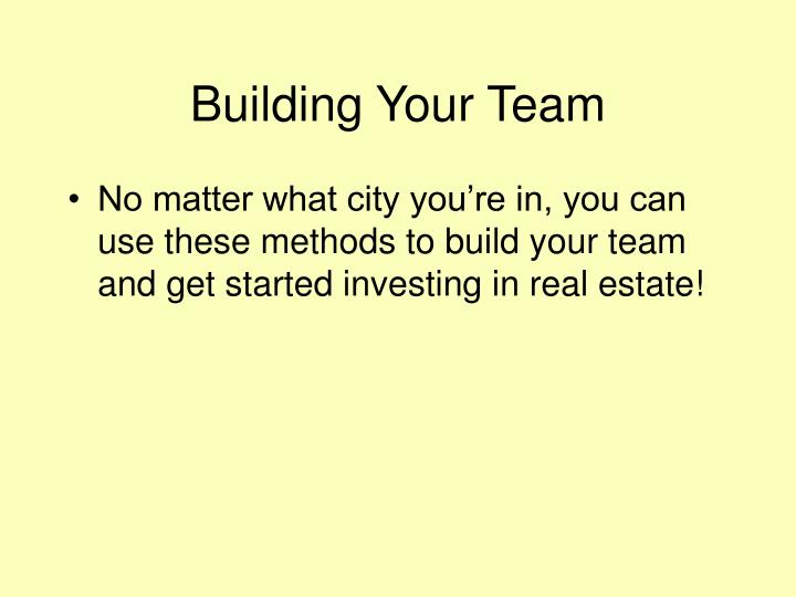 Building Your Team