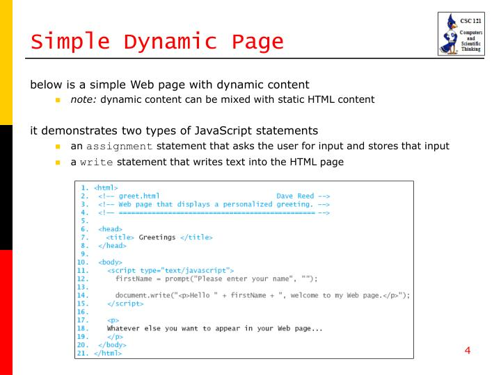 Simple Dynamic Page