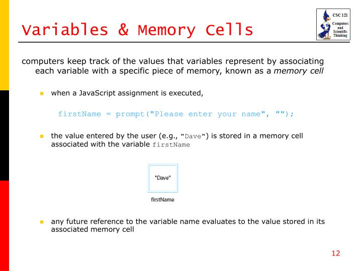 Variables & Memory Cells