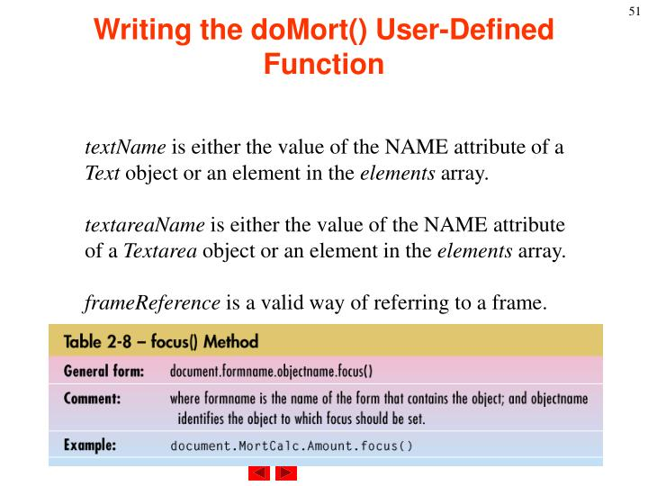 Writing the doMort() User-Defined Function