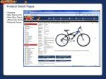 product detail pages