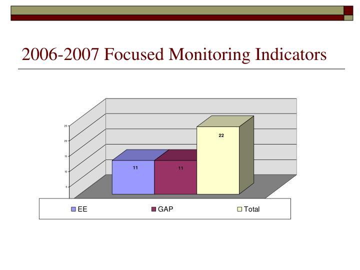 2006-2007 Focused Monitoring Indicators