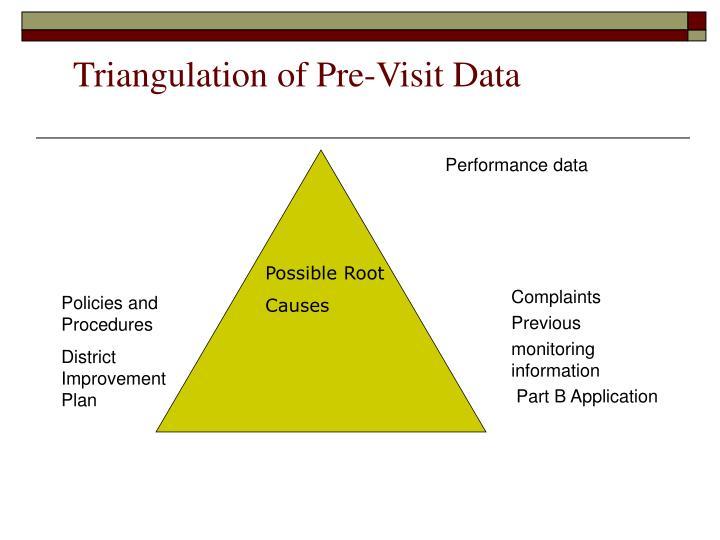 Triangulation of Pre-Visit Data