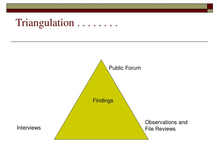 Triangulation . . . . . . . .