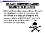 hazard communication standard 1910 1200