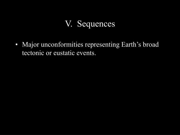 V.  Sequences