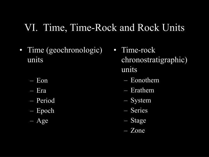 Time (geochronologic) units