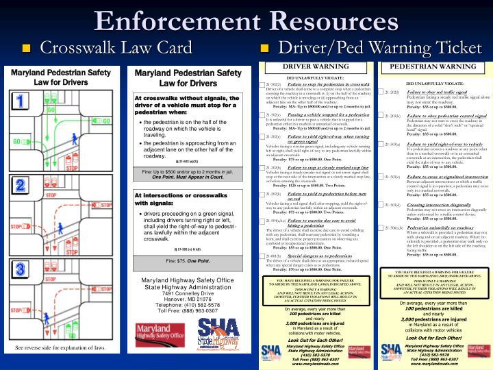 Enforcement Resources